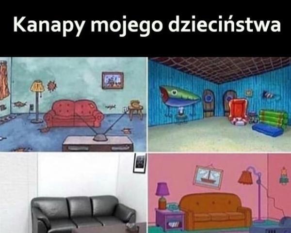 Kanapy z mojego dzieciństwa