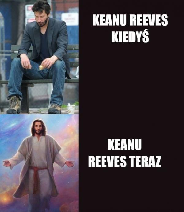 Keanu Reeves kiedyś i dziś