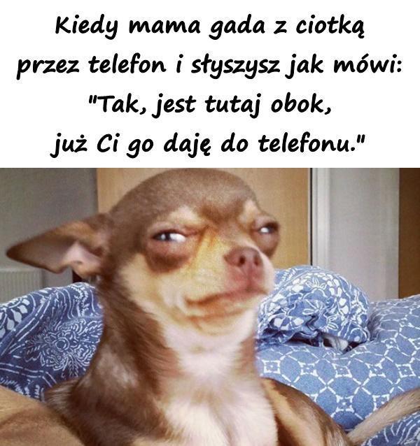 Kiedy mama gada z ciotką przez telefon i słyszysz jak mówi: