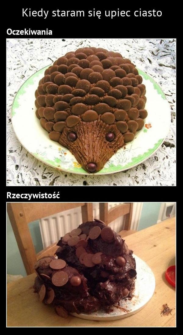 Kiedy staram się upiec ciasto