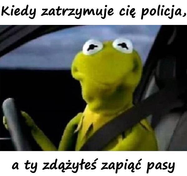 Kiedy zatrzymuje cię policja, a ty zdążyłeś zapiąć pasy