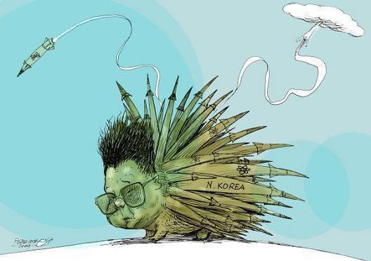 Kim Dzong Un Wszystkich was porozwalam! Dla każdego znajdzie się jakaś rakieta.