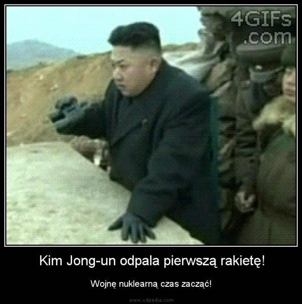 Kim Jong-un odpala pierwszą rakietę! Wojnę nuklearną czas zacząć!