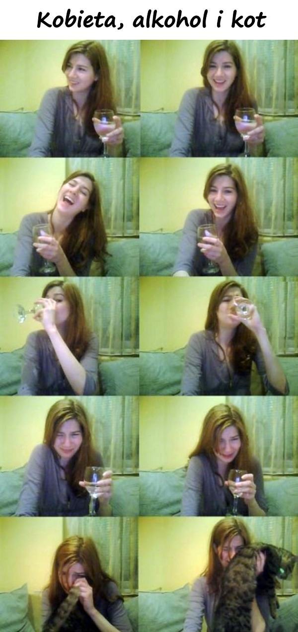 Kobieta, alkohol i kot