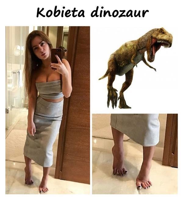 Kobieta dinozaur
