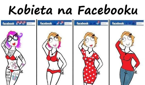 Kobieta na Facebooku