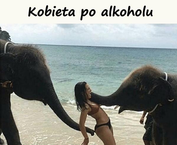 Kobieta po alkoholu
