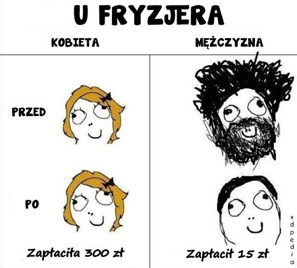 Kobieta vs. mężczyzna - u fryzjera