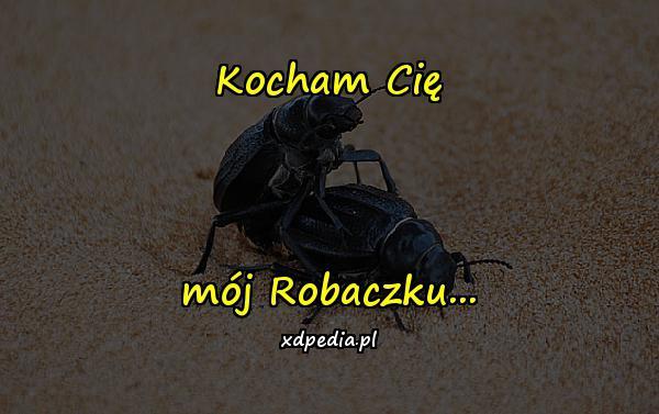 Kocham Cię mój Robaczku...