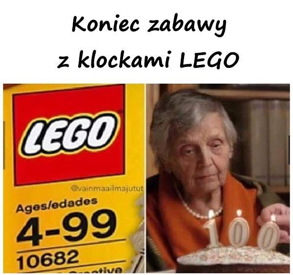 Koniec zabawy z klockami LEGO