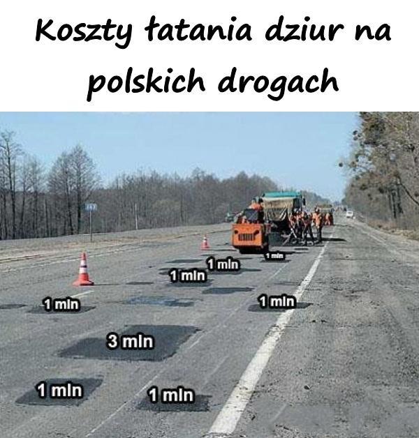 Koszty łatania dziur na polskich drogach