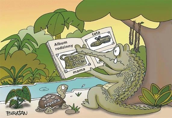 Krokodyli album rodzinny - mama - tata xD