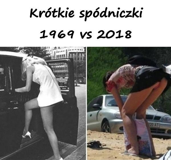 Krótkie spódniczki 1969 vs 2018