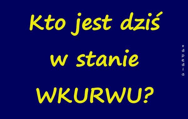 Kto jest dziś w stanie WKURWU?
