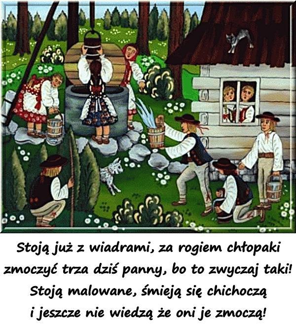 śmigus Dyngus życzenia święta Lany Poniedziałek Wiersz