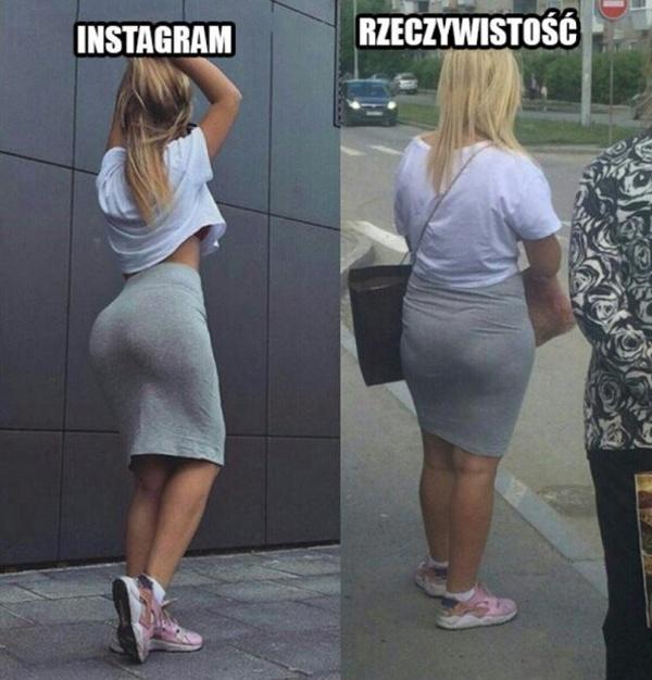 Laska na instagramie i w rzeczywistości