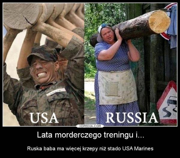 Lata morderczego treningu i... Ruska baba ma więcej krzepy niż stado USA Marines