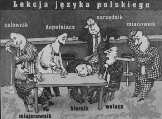 Lekcja języka polskiego: mianownik dopełniacz celownik biernik narzędnik miejscownik wołacz!