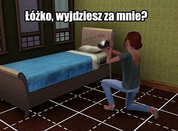 Łóżko, wyjedziesz za mnie?