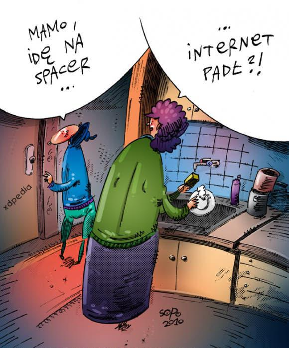 Mamo idę na spacer... Internet padł?!