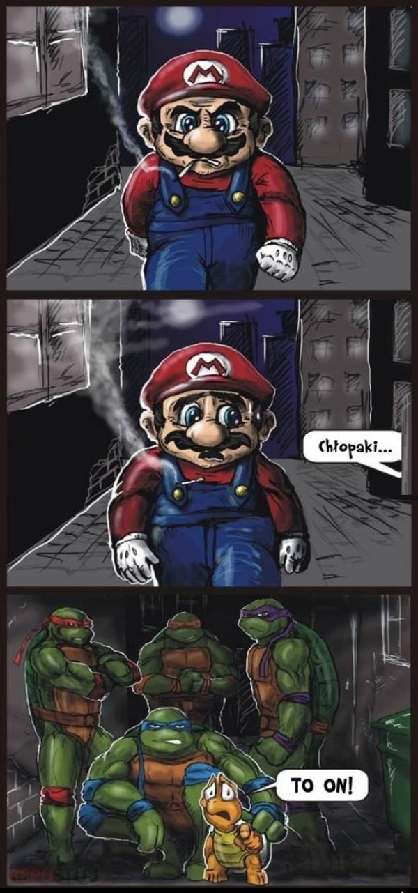 Mario i żółwie