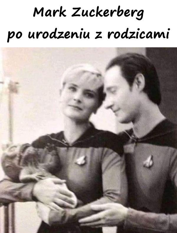 Mark Zuckerberg po urodzeniu z rodzicami