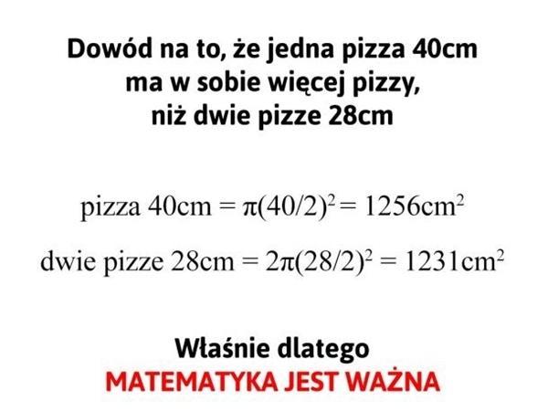 Matematyka jest bardzo ważna