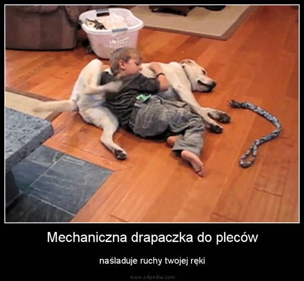 Mechaniczna drapaczka do pleców naśladuje ruchy twojej ręki