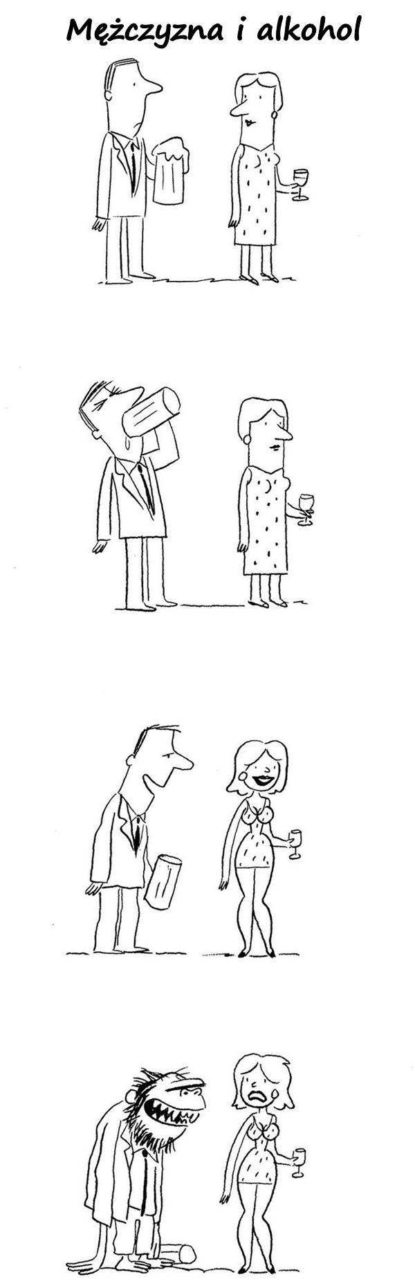 Mężczyzna i alkohol