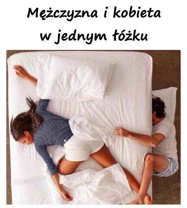 Mężczyzna i kobieta w jednym łóżku