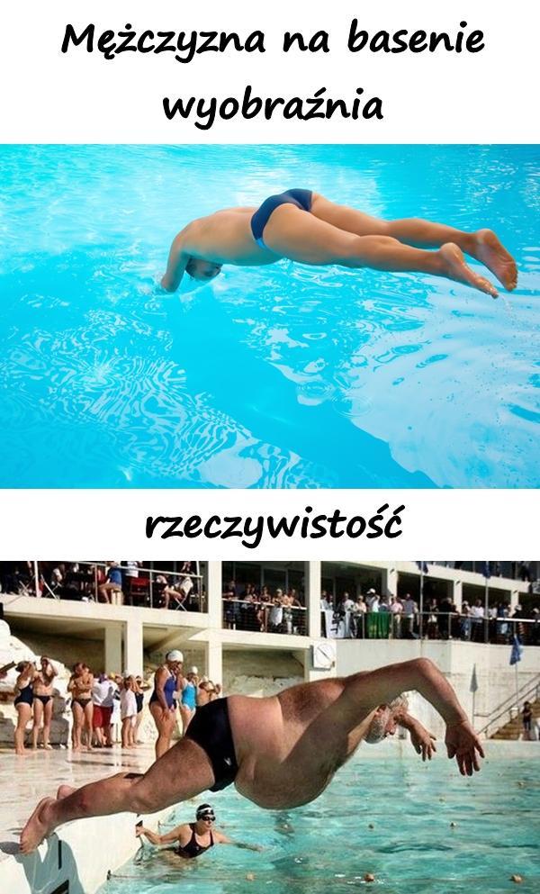 Mężczyzna na basenie: wyobraźnia a rzeczywistość