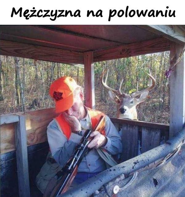 Mężczyzna na polowaniu