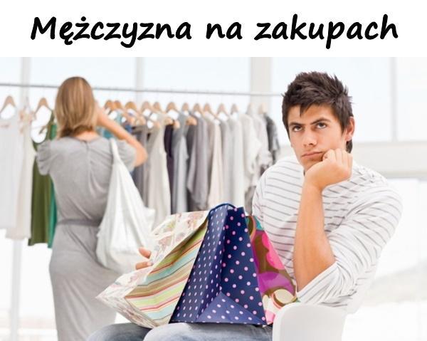 Mężczyzna na zakupach