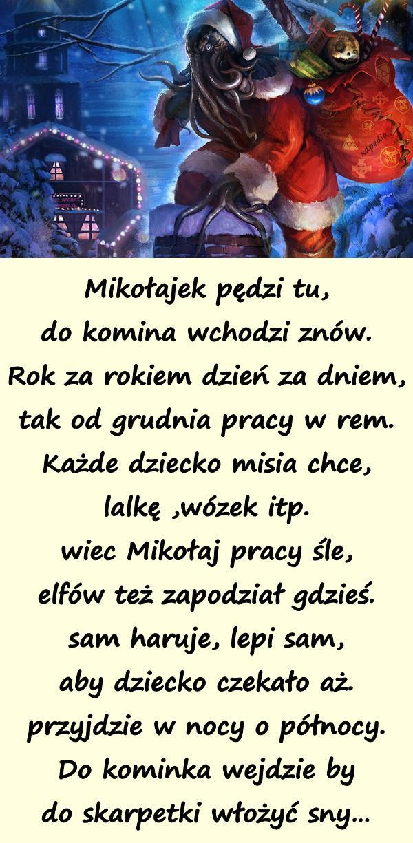 Dzień Mikołaja Wiersze Mikołajki Kartka Demot