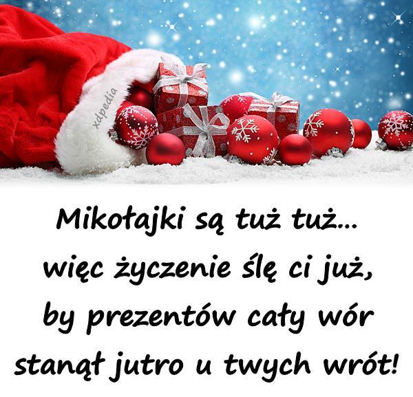 Dzień życzenia Mikołajki Prezenty święty Mikołaj