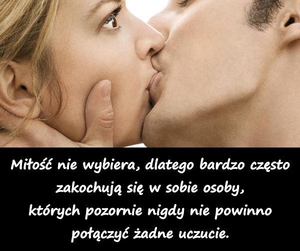 Miłość nie wybiera, dlatego bardzo często zakochują się w sobie osoby, których pozornie nigdy nie powinno połączyć żadne uczucie.