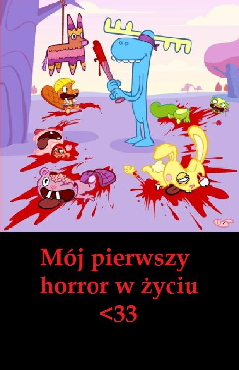 Mój pierwszy horror w życiu <33 Ale rzeź, normalnie masakra :D