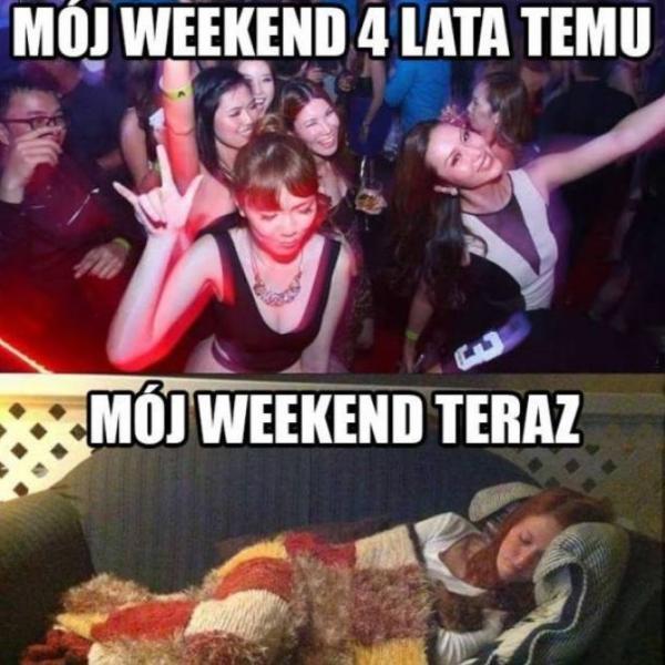 Mój weekend kiedyś i dziś