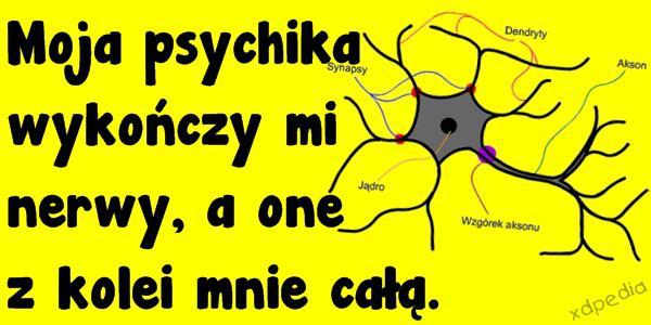 Moja psychika wykończy mi nerwy, a one z kolei mnie całą.