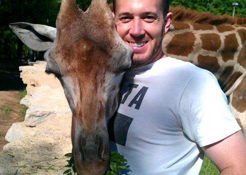 Żyrafa przytuli mnie kiedy tego bardzo potrzebuję