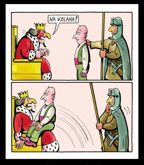 Król: - na kolana