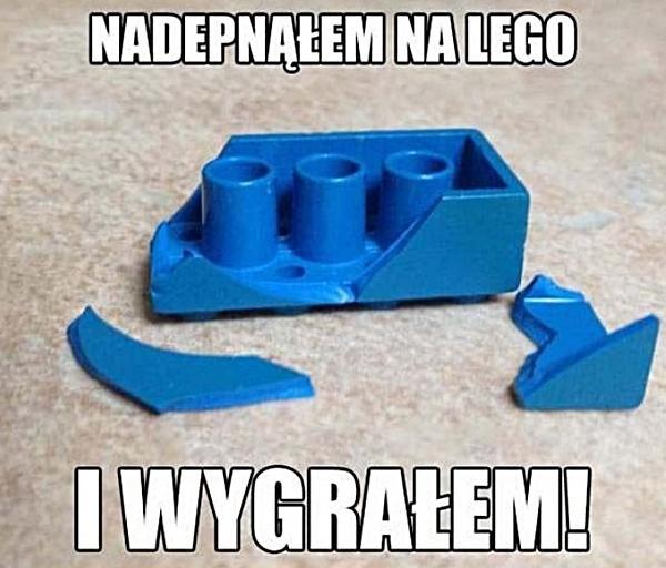 Nadepnąłem na lego i wygrałem