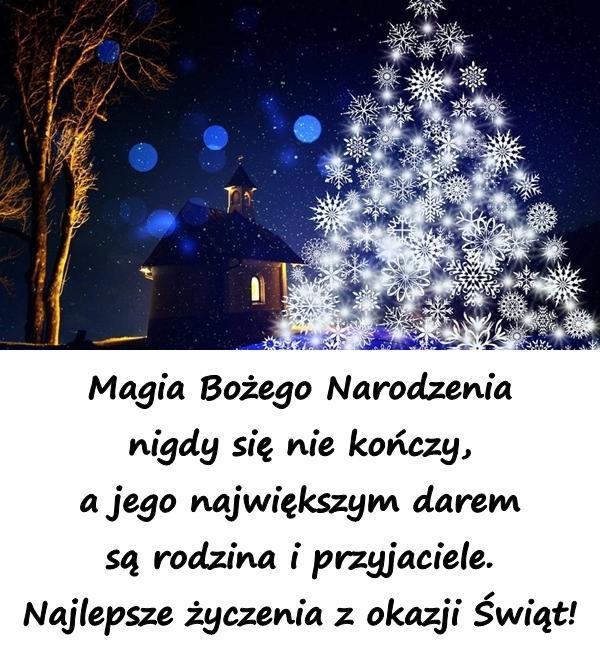 Magia Bożego Narodzenia nigdy się nie kończy, a jego największym darem są rodzina i przyjaciele. Najlepsze życzenia z okazji Świąt!