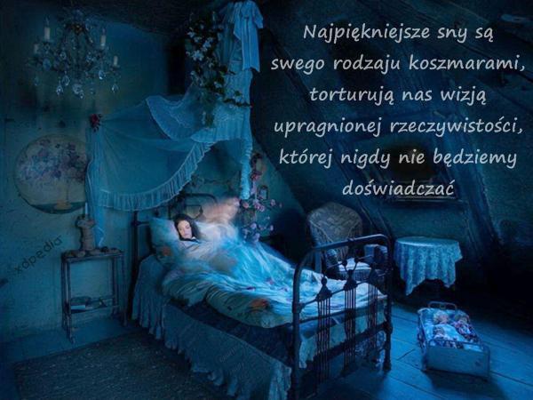 Najpiękniejsze sny są swego rodzaju koszmarami, torturują nas wizją upragnionej rzeczywistości, której nigdy nie będziemy doświadczać