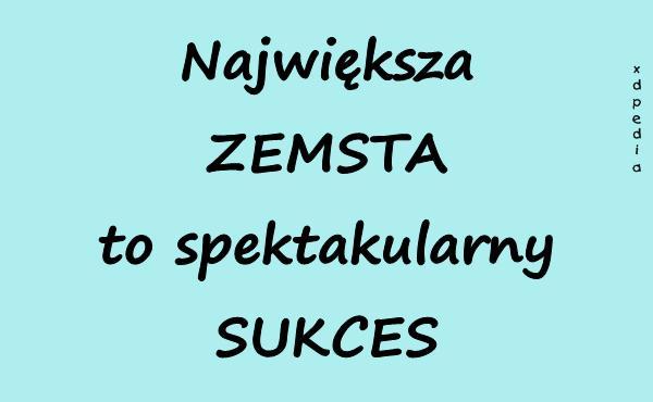 Największa ZEMSTA to spektakularny SUKCES Tagi: memy, mem, zemsta, sukces, besty.