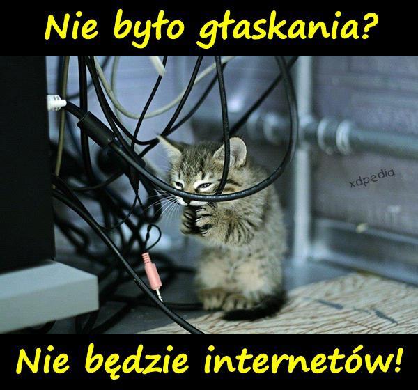 Nie było głaskania? Nie będzie internetów!