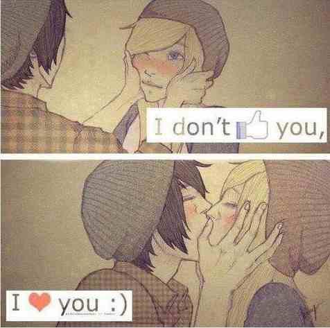 Nie lubię Cię, ja kocham Cię :)