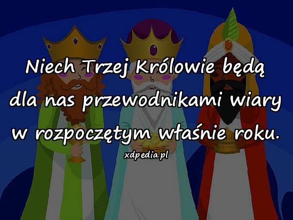 Niech Trzej Królowie będą dla nas przewodnikami wiary w rozpoczętym właśnie roku.