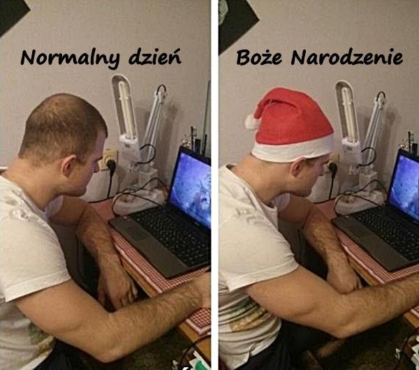 Normalny dzień i Boże Narodzenie