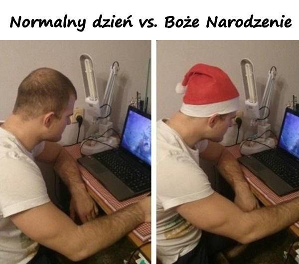 Normalny dzień vs. Boże Narodzenie